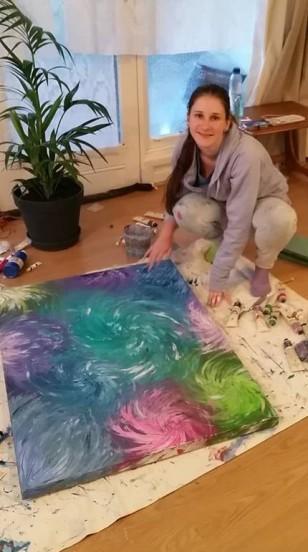 me painting swirls
